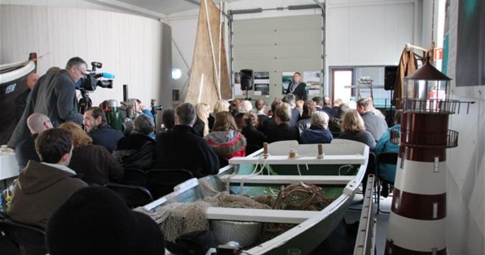 Fra prisseremonien på Sjøbruksmuseet, torsdag 12.03.2015. Bilde Gisle Nataas